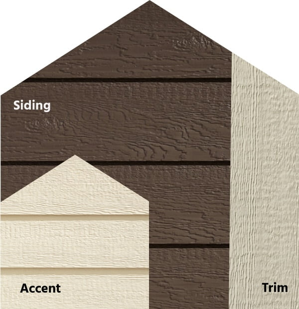 Diamond Kote® RigidStack™ Lap Siding and Trim - Back To Nature - Caribou Siding, Biscuit Accent & Beige Trim