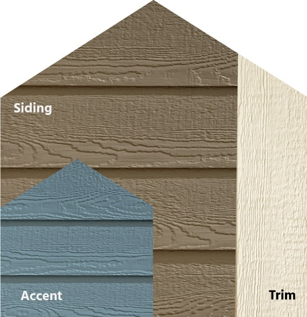 Diamond Kote® RigidStack™ Lap Siding and Trim - Beachside Drive - Seal Siding, Mountain Lake Accent & Biscuit Trim