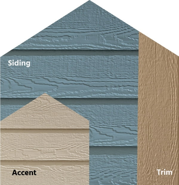 Diamond Kote® RigidStack™ Lap Siding and Trim - Down To Earth - Mountain Lake Siding, Oyster Shell Accent & French Gray Trim