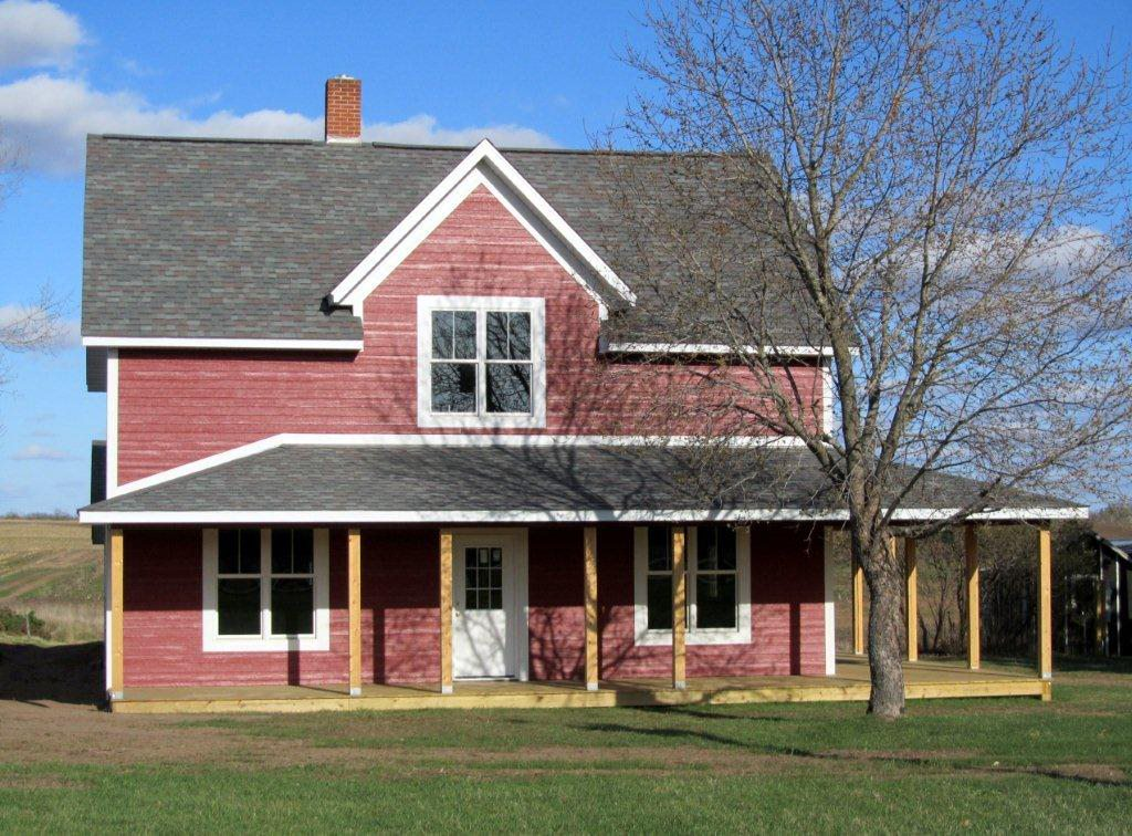 Diamond Kote® - Home Transformations - Rooster Red Farmhouse - After