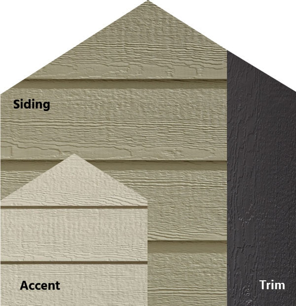 Diamond Kote® RigidStack™ Lap Siding and Trim - Perfectly Bold - Platinum Siding, Beige Accent & Graphite Trim