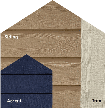 Diamond Kote® RigidStack™ Lap Siding and Trim - Worth The Wait - French Gray Siding, Midnight Accent & Beige Trim