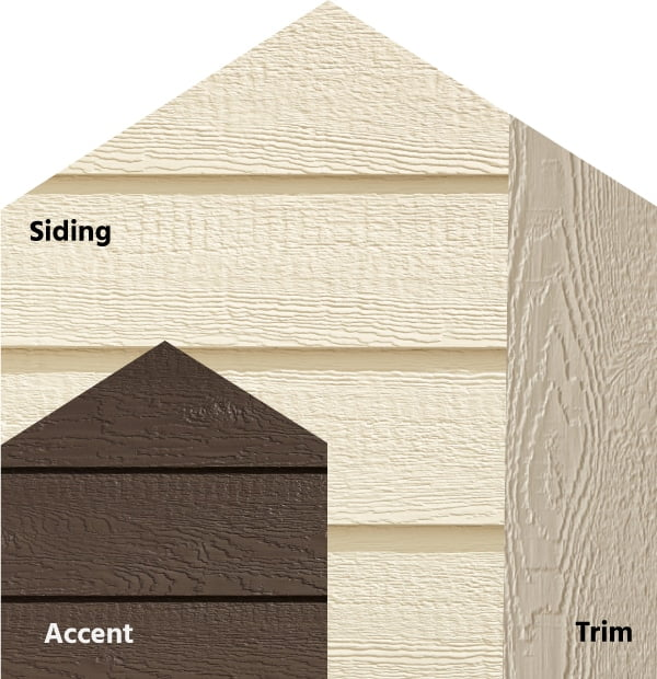 Diamond Kote® RigidStack™ Lap Siding and Trim - Woodland Comfort - Biscuit Siding, Caribou Accent & Oyster Shell Trim